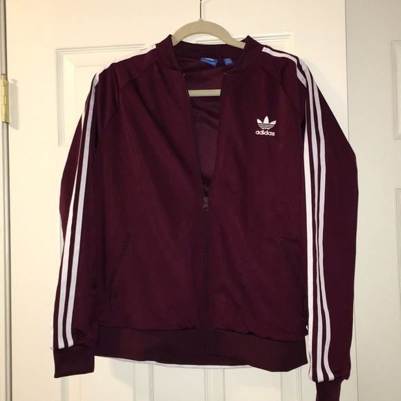 burgundy adidas sweater